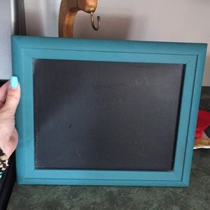 Other - Chalkboard with teal frame. Gold stand included.